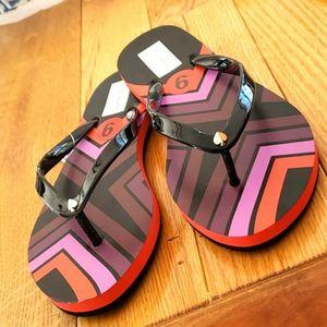 NWT Kate Spade   Manette Striped Flip Flops